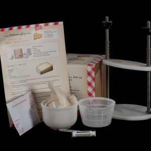 Hard and Soft Cheese Making Kit with Press