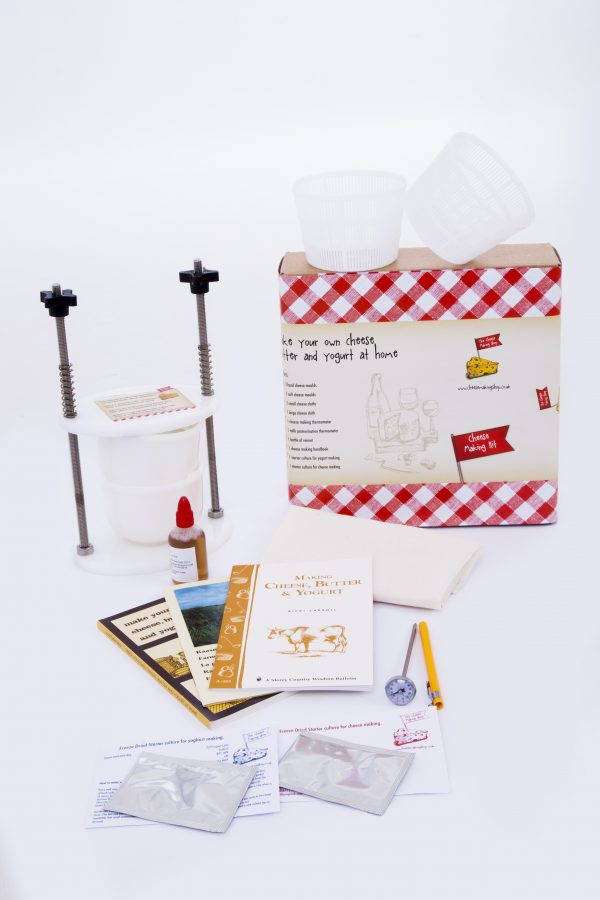 Hard and soft cheese making kit + press